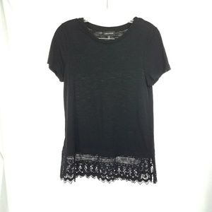 Lord & Taylor Lace detailed tee